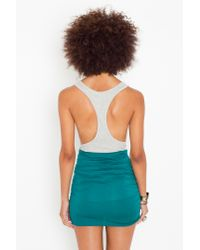 Nasty Gal | Green Ruched Knot Skirt - Emerald | Lyst