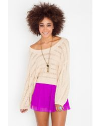 Nasty Gal | Purple Mini Pleated Shorts | Lyst