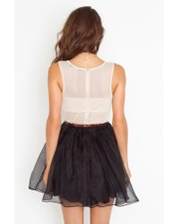 Nasty Gal | Black Nina Silk Dress | Lyst