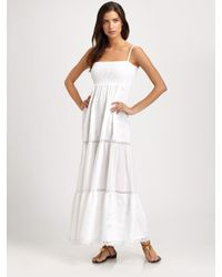 OndadeMar | White Embroidered Cotton Maxi Dress | Lyst