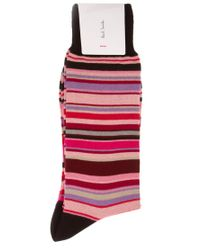 Paul Smith | Pink Multi Stripe Socks for Men | Lyst