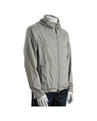Prada | Gray Aluminum Snap Cuff Hooded Windbreaker Jacket for Men | Lyst
