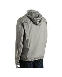 Prada - Gray Aluminum Snap Cuff Hooded Windbreaker Jacket for Men - Lyst