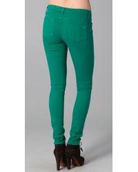 Rag & Bone - The Skinny Kelly Green Jeans - Lyst