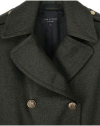 Rag & Bone - Green Admiral Coat - Lyst