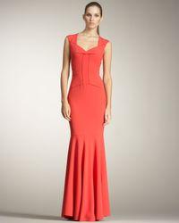 Roland Mouret | Red Frances Fishtail Gown | Lyst