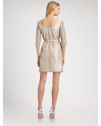 Shoshanna - Metallic Lace Dress - Lyst