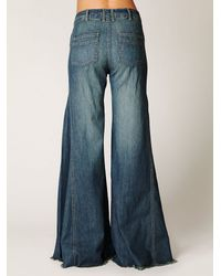 Free People - Blue High Waisted Extreme Vintage Flare - Lyst