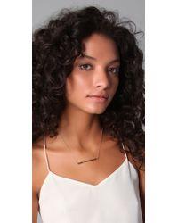 Jennifer Zeuner   Metallic Bar-pendant Necklace   Lyst
