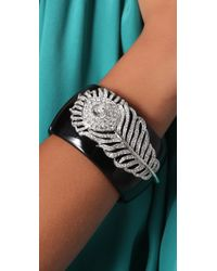 Kenneth Jay Lane - Black Feather Cuff - Lyst