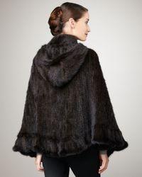 La Fiorentina - Brown Knit Mink Cape - Lyst