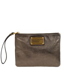 Marc By Marc Jacobs - Brown Pewter Classic Q Wristlet - Lyst