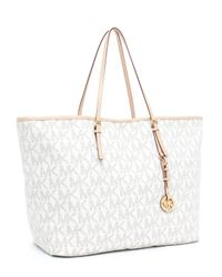 Michael Kors - White Jet Set Large Travel Tote, Vanilla - Lyst
