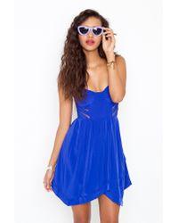 Nasty Gal - Blue Corset Cage Dress - Cobalt - Lyst