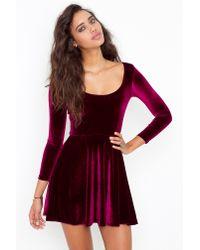 Nasty Gal - Purple Kerrigan Velvet Dress - Lyst