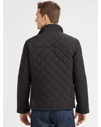 Saks Fifth Avenue | Black Quilted Nylon Jacket for Men | Lyst