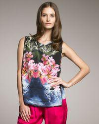 Stella McCartney | Multicolor Sleeveless Tropical-print Blouse | Lyst