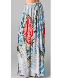 Thakoon Addition | Multicolor Maxi Skirt with Slits | Lyst