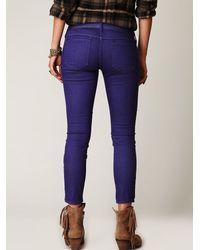 Free People | Purple 5 Pocket Ankle Crop Skinny | Lyst
