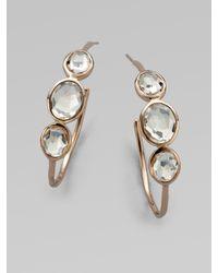 Ippolita | Metallic 18K Gold & Sterling Silver Quartz Hoop Earrings | Lyst