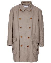 Kolor   Natural Double Breasted Coat for Men   Lyst