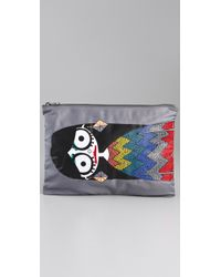 Marc By Marc Jacobs - Gray Miss Marc Zip Pouch - Lyst