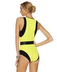 Michael Kors - Green Colorblock Scuba Swimsuit - Lyst