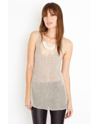 Nasty Gal | Gray Chainmail Knit Tank | Lyst