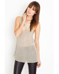 Nasty Gal - Gray Chainmail Knit Tank - Lyst
