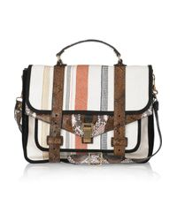 Proenza Schouler | Multicolor Ps1 Large Leather and Canvas Shoulder Bag | Lyst