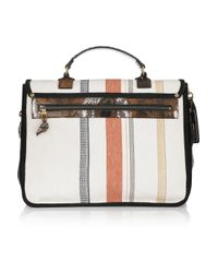 Proenza Schouler - Multicolor Ps1 Large Leather and Canvas Shoulder Bag - Lyst