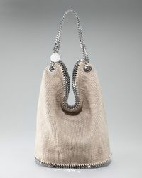 Stella McCartney | Natural Cotton Tricot Bucket Bag | Lyst