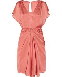 Temperley London | Pink Venus Draped Silk Dress | Lyst