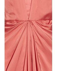 Temperley London   Pink Venus Draped Silk Dress   Lyst