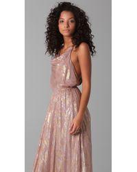 The Addison Story - Purple Silk Chiffon Maxi Dress - Lyst