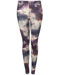 Topshop | Purple Space Print Legging | Lyst