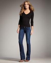 True Religion | Blue Tori Lonestar Staple-stitch Boot-cut Jeans | Lyst