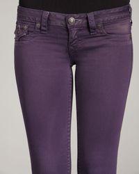 True Religion | Blue Misty Eggplant Legging Jeans | Lyst