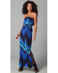 Twelfth Street Cynthia Vincent | Blue Strapless Maxi | Lyst