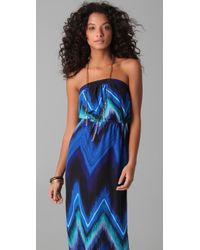 Twelfth Street Cynthia Vincent - Blue Strapless Maxi - Lyst