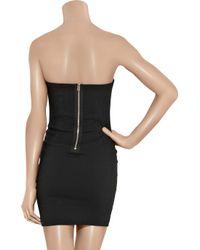 Isabel Marant | Black Colin Stretch Linen-Blend Strapless Dress | Lyst
