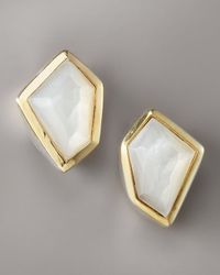 Kara Ross | Mother-of-pearl Earrings, White | Lyst