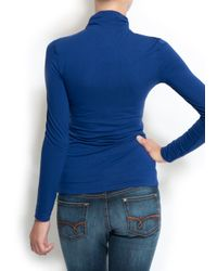 Mango | Blue Turtleneck T-shirt | Lyst