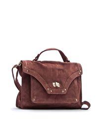 Mango | Brown Leather Messenger Bag | Lyst