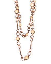 Mango - Metallic Shell Necklace - Lyst