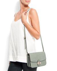 Mango | Gray Touch - Leather Messenger Handbag | Lyst