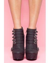 Nasty Gal - Mercer Wedge Boot - Black - Lyst