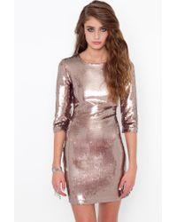 Nasty Gal | Pink Derora Sequin Dress | Lyst