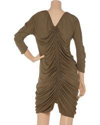 Zero + Maria Cornejo - Brown Kiara Ruched Stretch-Jersey Dress - Lyst