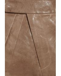 Zero + Maria Cornejo   Brown Uma Leather Shorts   Lyst